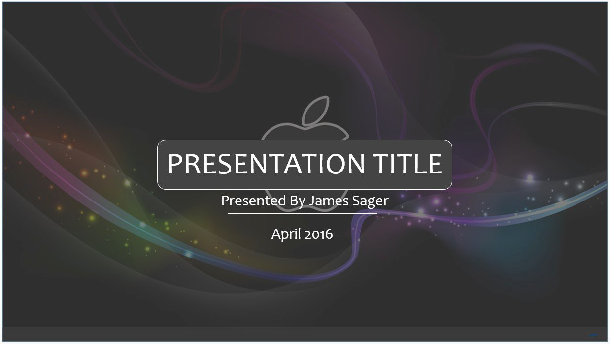 Free 3d Apple Powerpoint Template 8391