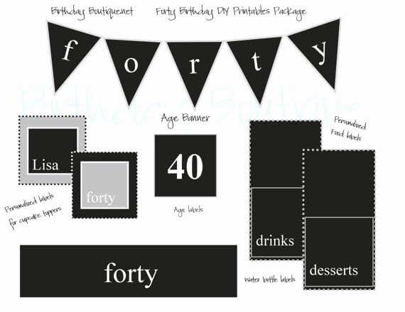 Free 40th Birthday Invitation Template – orderecigsjuicefo