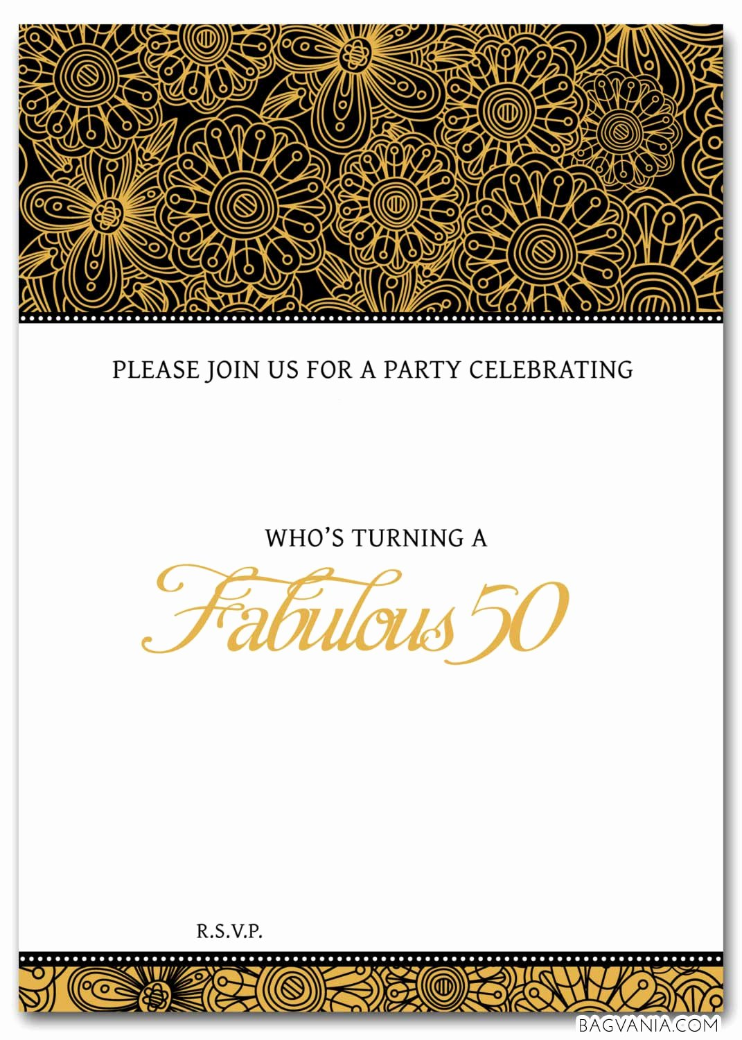 Free 50th Birthday Party Invitations Wording – Bagvania