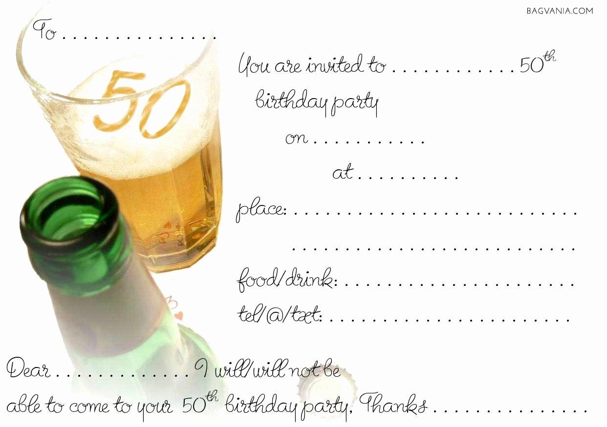 Free 50th Birthday Party Invitations Wording – Bagvania