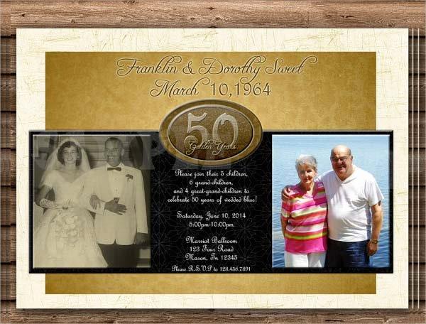 Free 50th Wedding Anniversary Invitations Yourweek