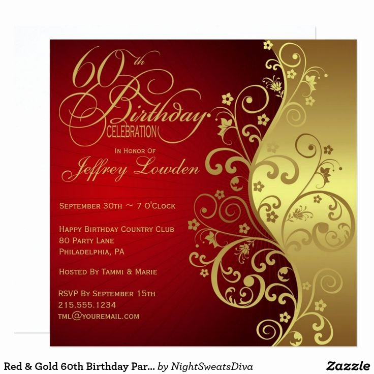 Free 60th Birthday Invitations Templates – orderecigsjuice