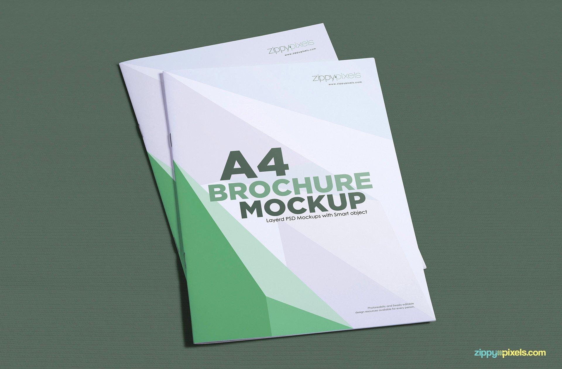 Free A4 Brochure Mockup