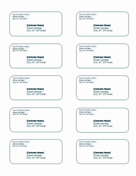 Free Address Label Templates – Microsoft Word Templates