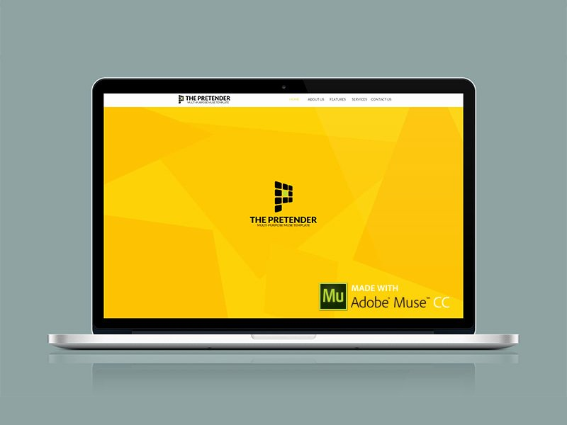 Free Adobe Muse Template by Peter Spencer