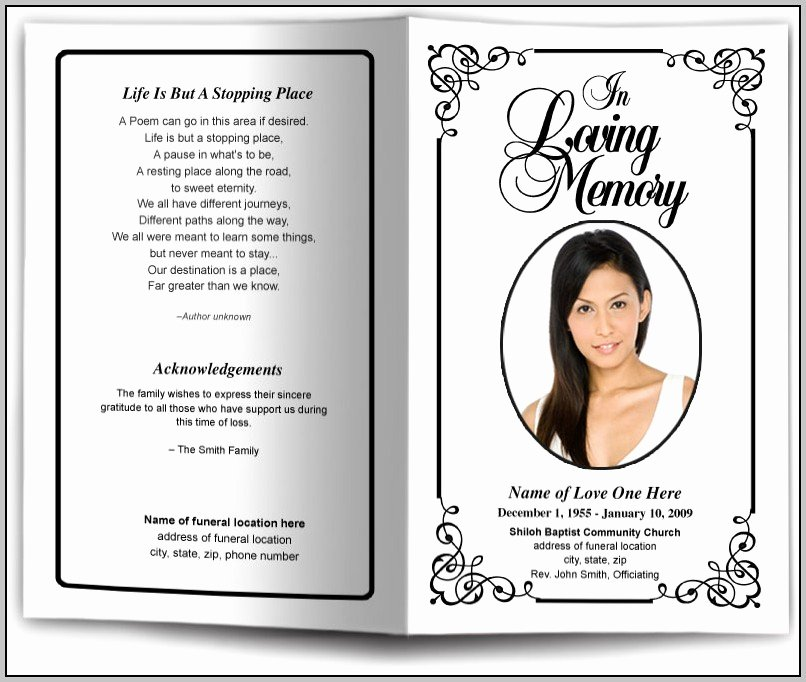 Free African American Funeral Program Template Template