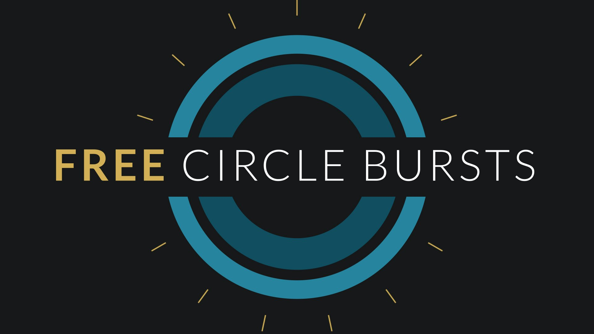 Free after Effects Template Circle Burst assets