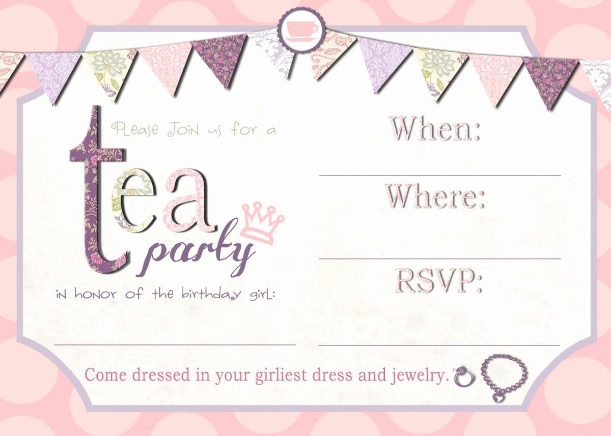 Free afternoon Tea Invitation Template