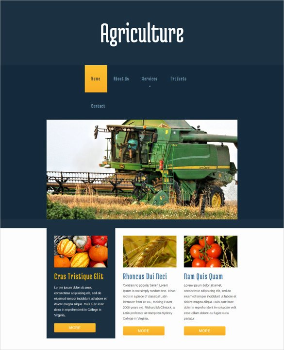 Free Agriculture Website Templates & themes