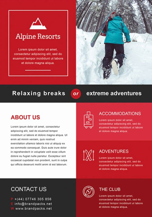Free Alpine Resorts Business Flyer Template Download for