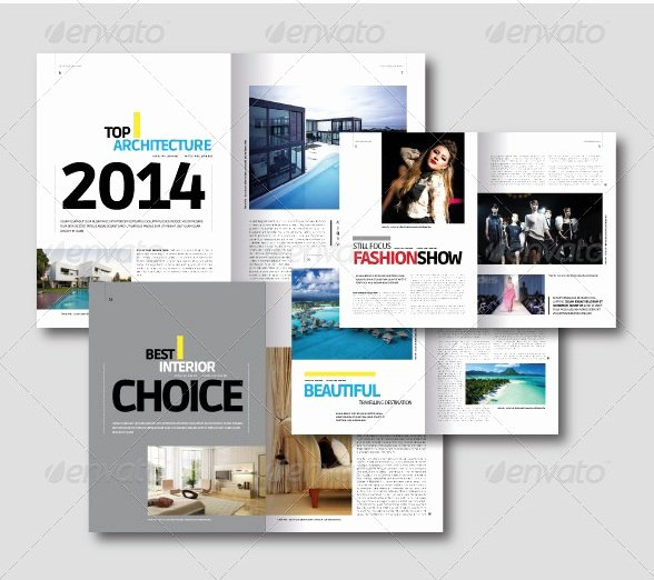 Free and Premium Print Magazine Templates