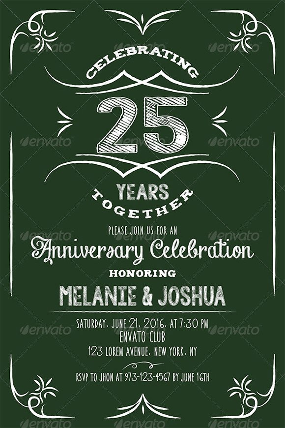 Free Anniversary Invitation Template for Word