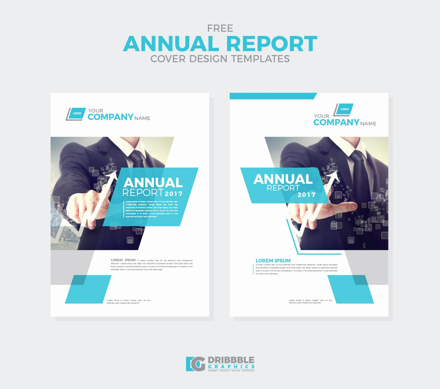 Free Annual Report Cover Design Templates