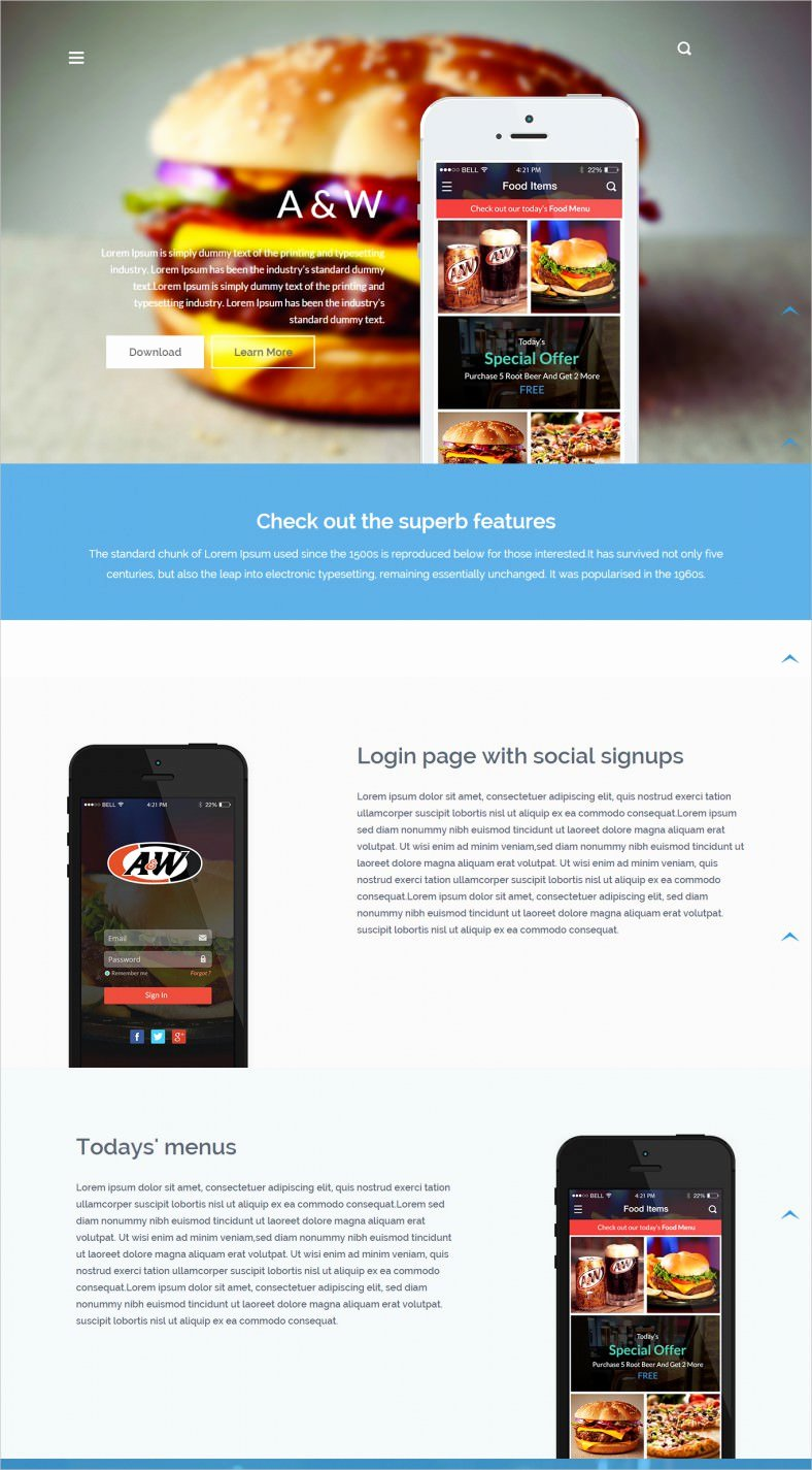 Free App Website Templates & themes