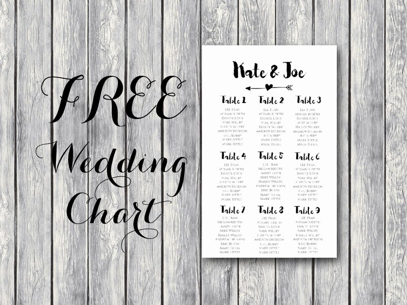 Free Arrow Wedding Seating Chart Template Bride Bows
