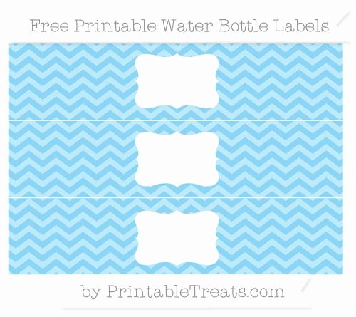 Free Baby Blue Chevron Water Bottle Labels
