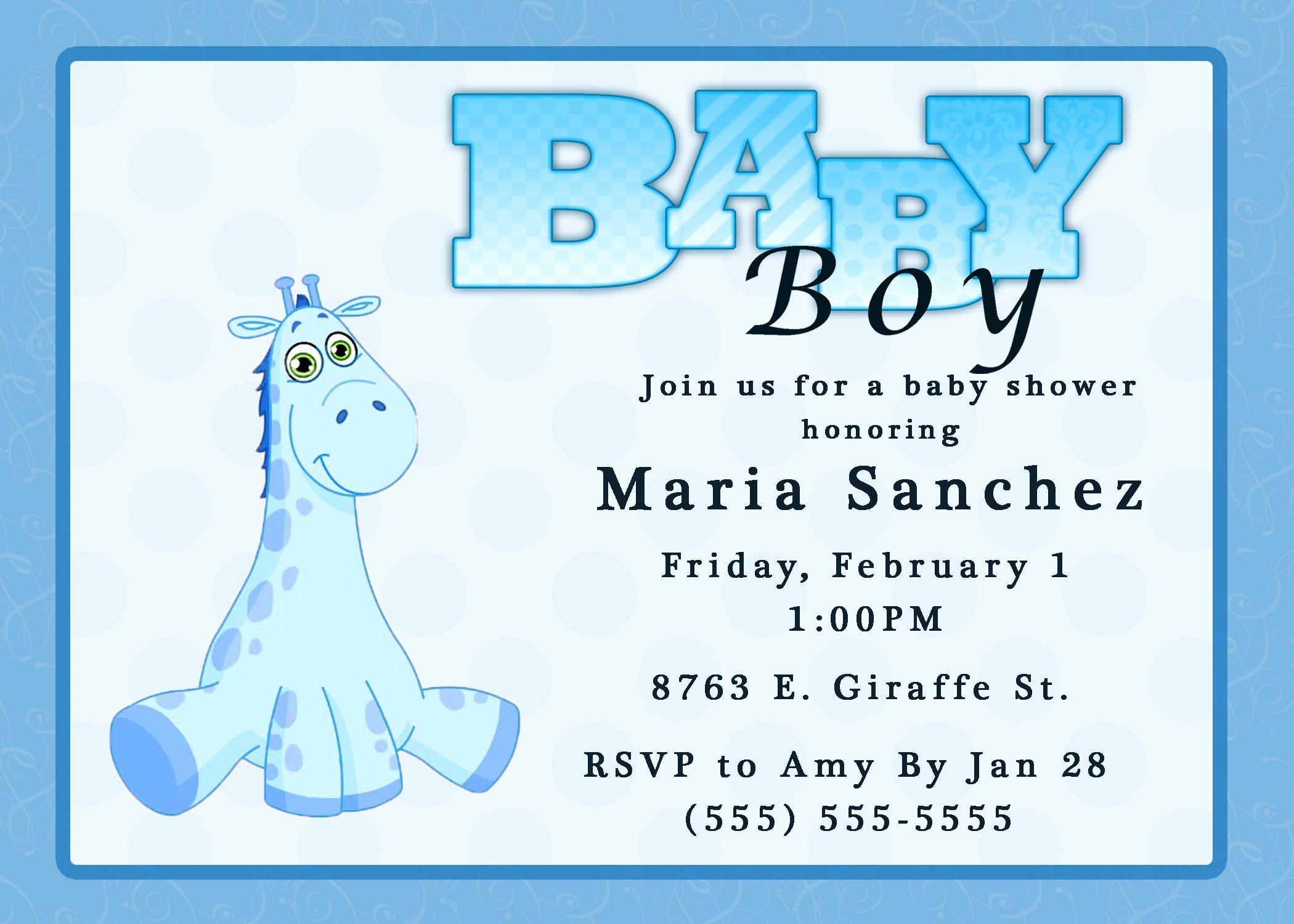 Free Baby Boy Shower Invitations Templates Baby Boy