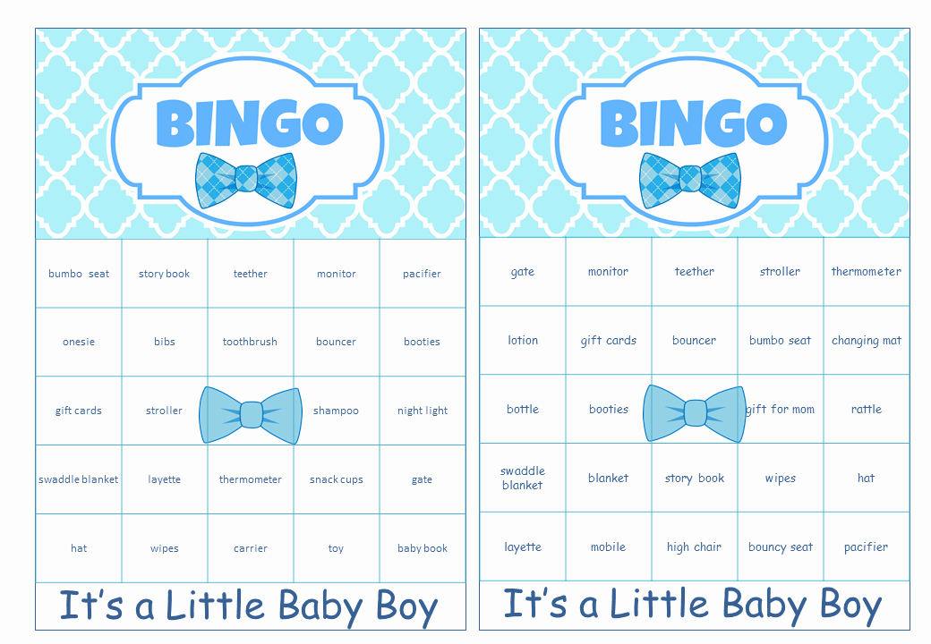 Free Baby Shower Bingo Cards My Practical Baby Shower Guide