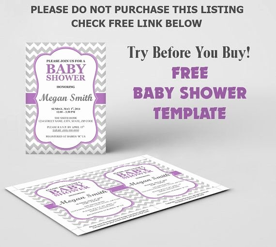 Free Baby Shower Invitation Template Diy Editable