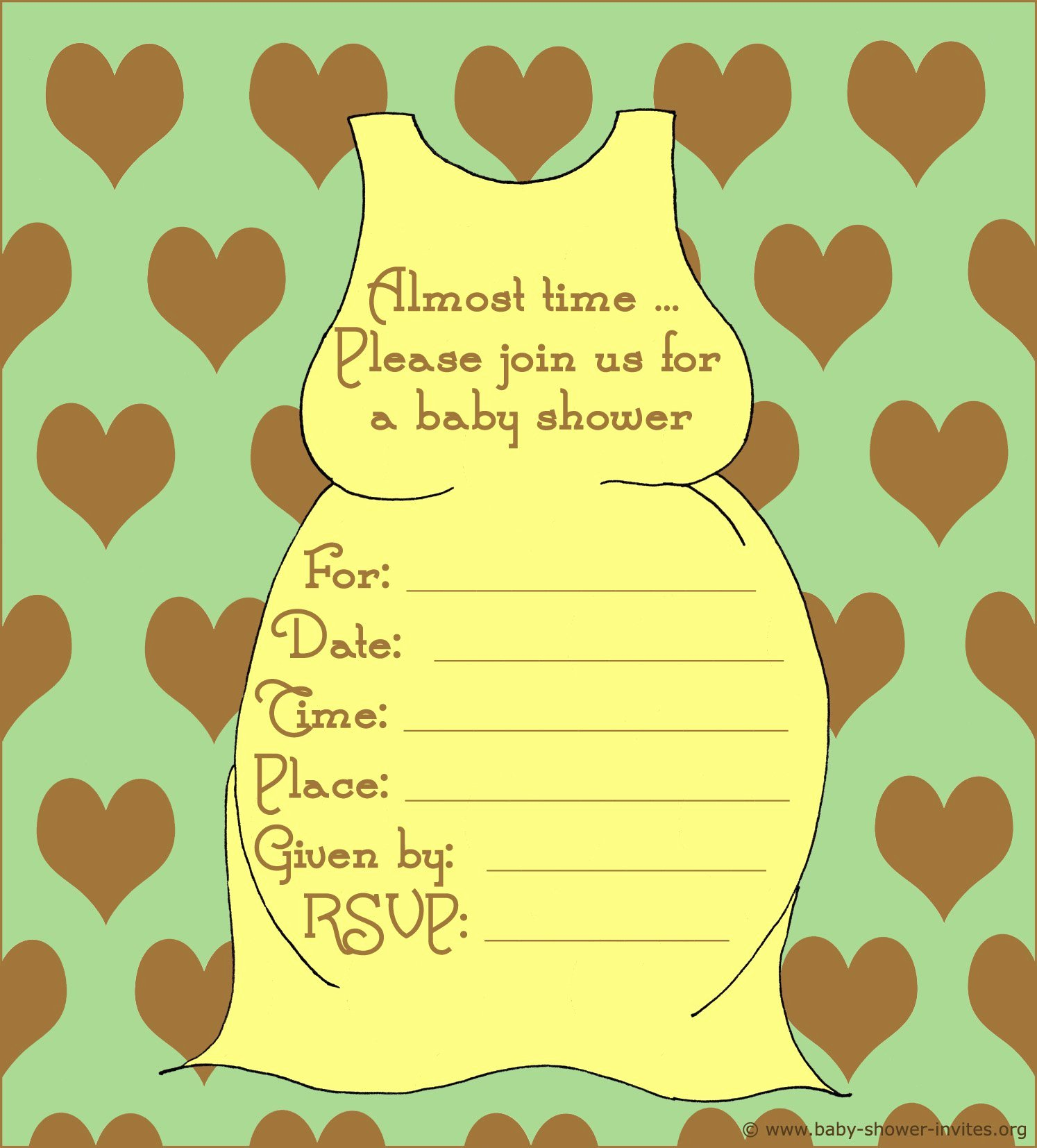 Free Baby Shower Invitation Templates Free Baby Shower