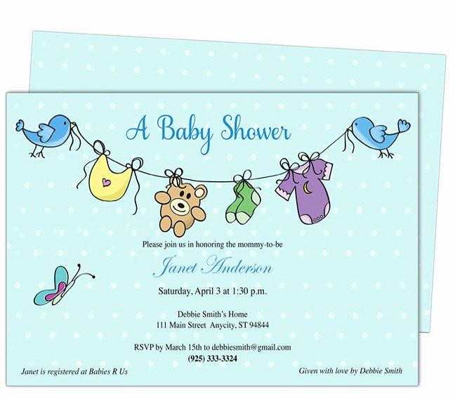 Free Baby Shower Invitation Templates Microsoft Word Free