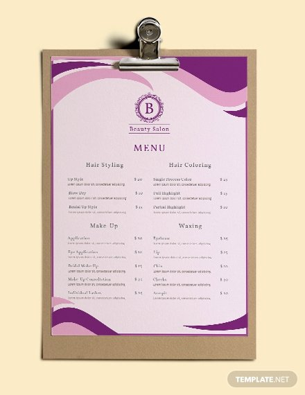 Free Baby Shower Menu Template Download 36 Menus In Psd