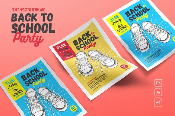 Free Back to School Bash Flyer Templates Designtube