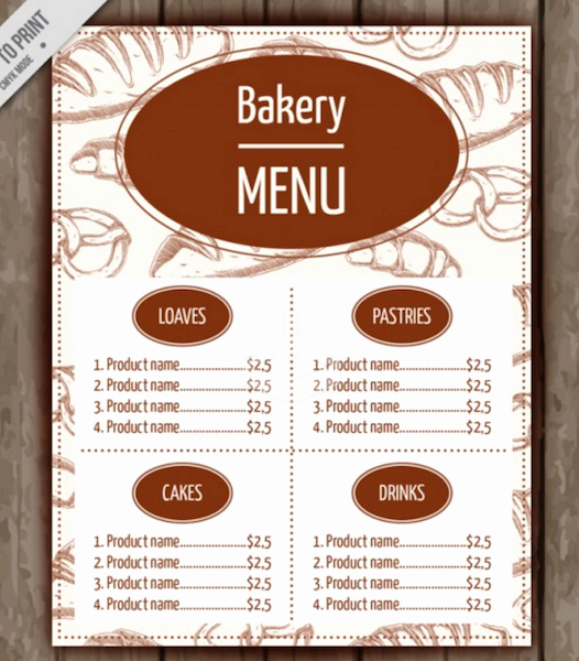 Free Bakery Flyer Templates Yourweek 580d33eca25e