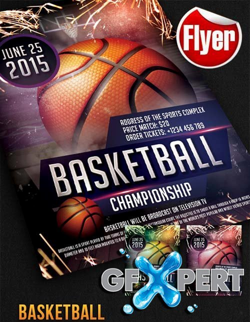Free Basketball Free Flyer Psd Template Cover