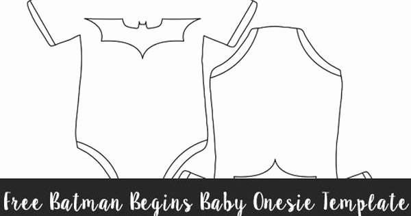 Free Batman Begins Baby Esie Template Medium Size