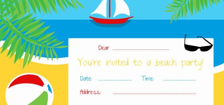 Free Beach Invitation Template – orderecigsjuicefo