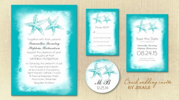 Free Beach Wedding Invitations Cheap Beach Wedding