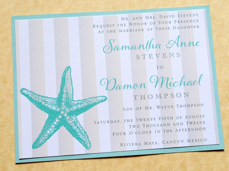 Free Beach Wedding Invitations Cheap Beach Wedding