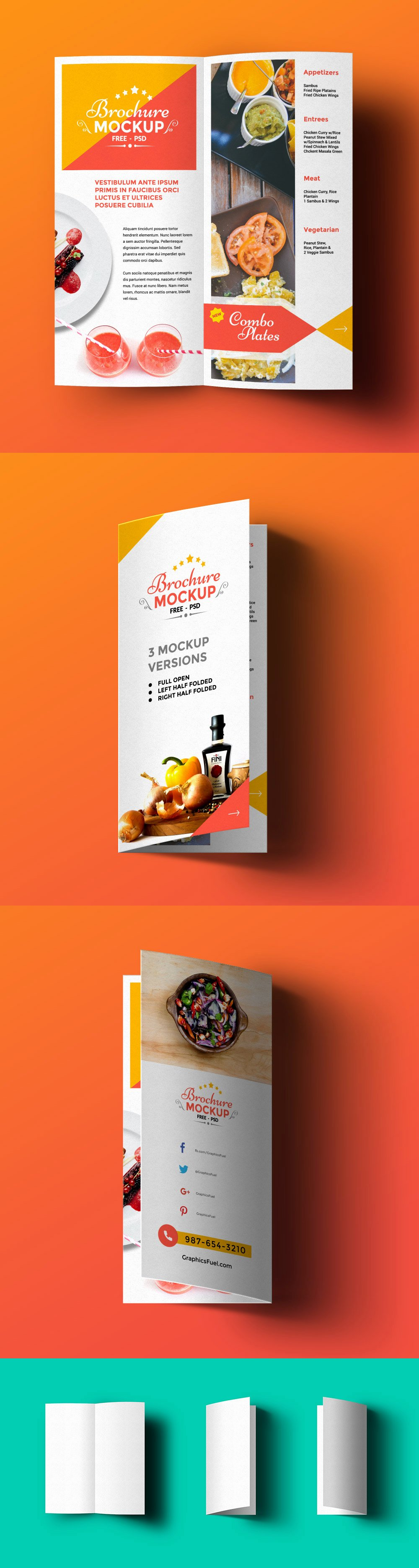 Free Bi Fold Brochure Psd Mockup Template Age themes