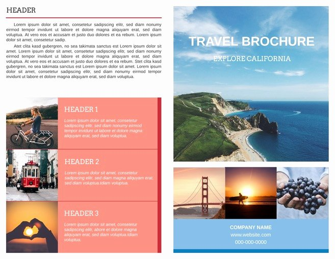 Free Bi Fold Brochure Templates & Examples [free Templates]