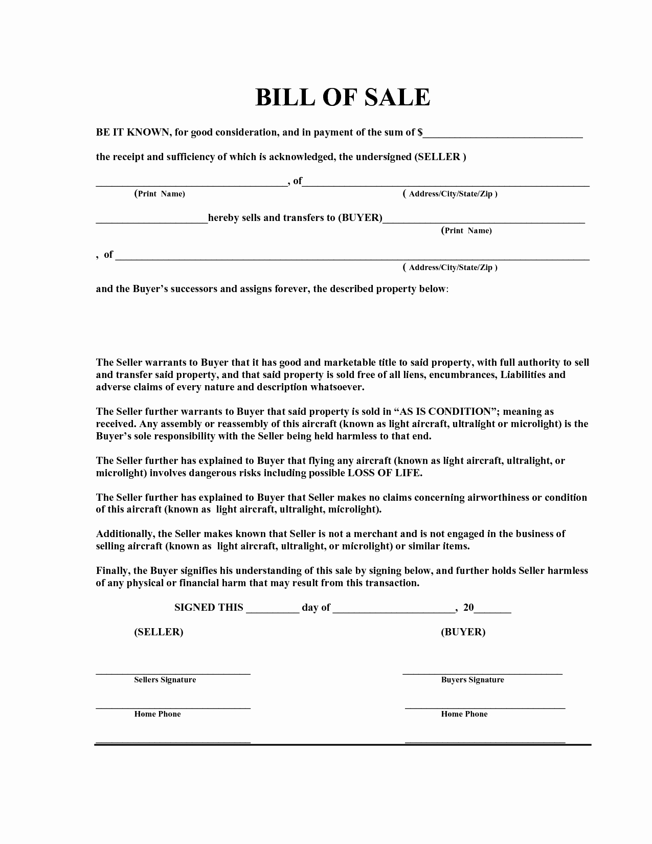 Free Bill Of Sale Template Pdf by Marymenti as is Bill