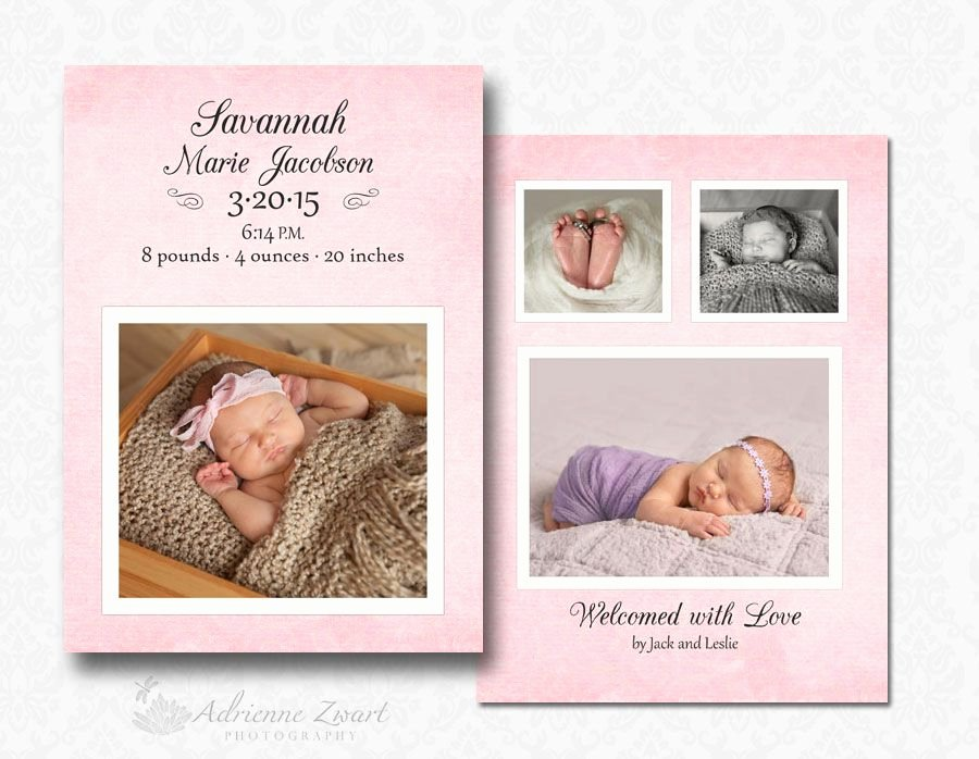 Free Birth Announcement Templates for Shop
