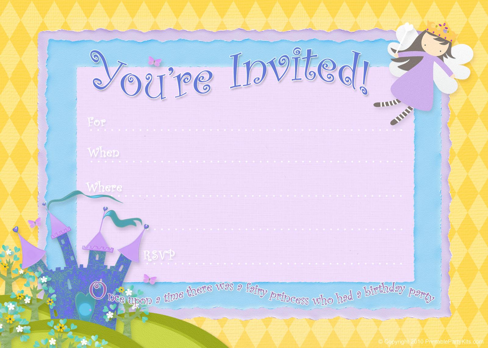 Free Birthday Party Invitations – Bagvania Free Printable