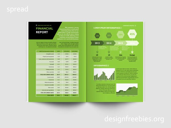 Free Black and Green Pany Profile Indesign Template