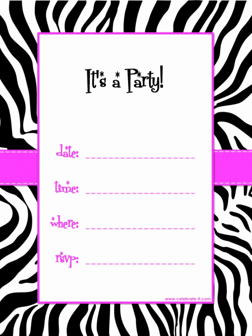 Black And White Party Invitation Template Free Latter Example