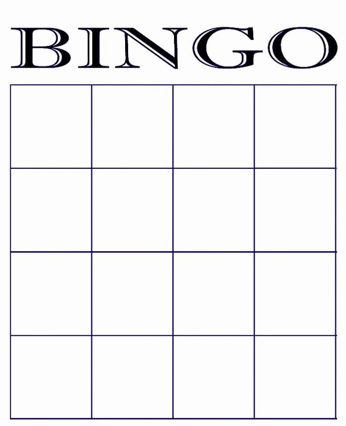 Free Blank Bingo Card Template Printable