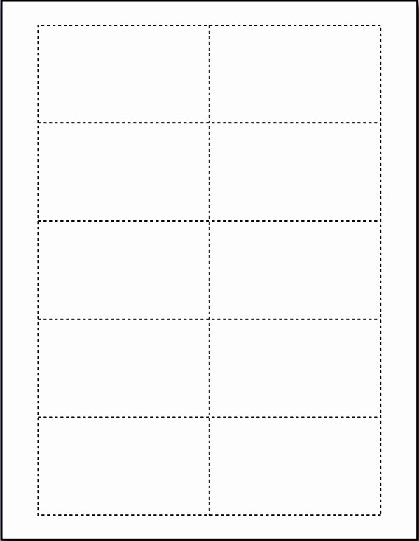 Free Blank Business Card Template for Microsoft Word