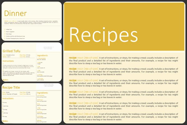 Free Blank Cookbook Template Pdf Word format