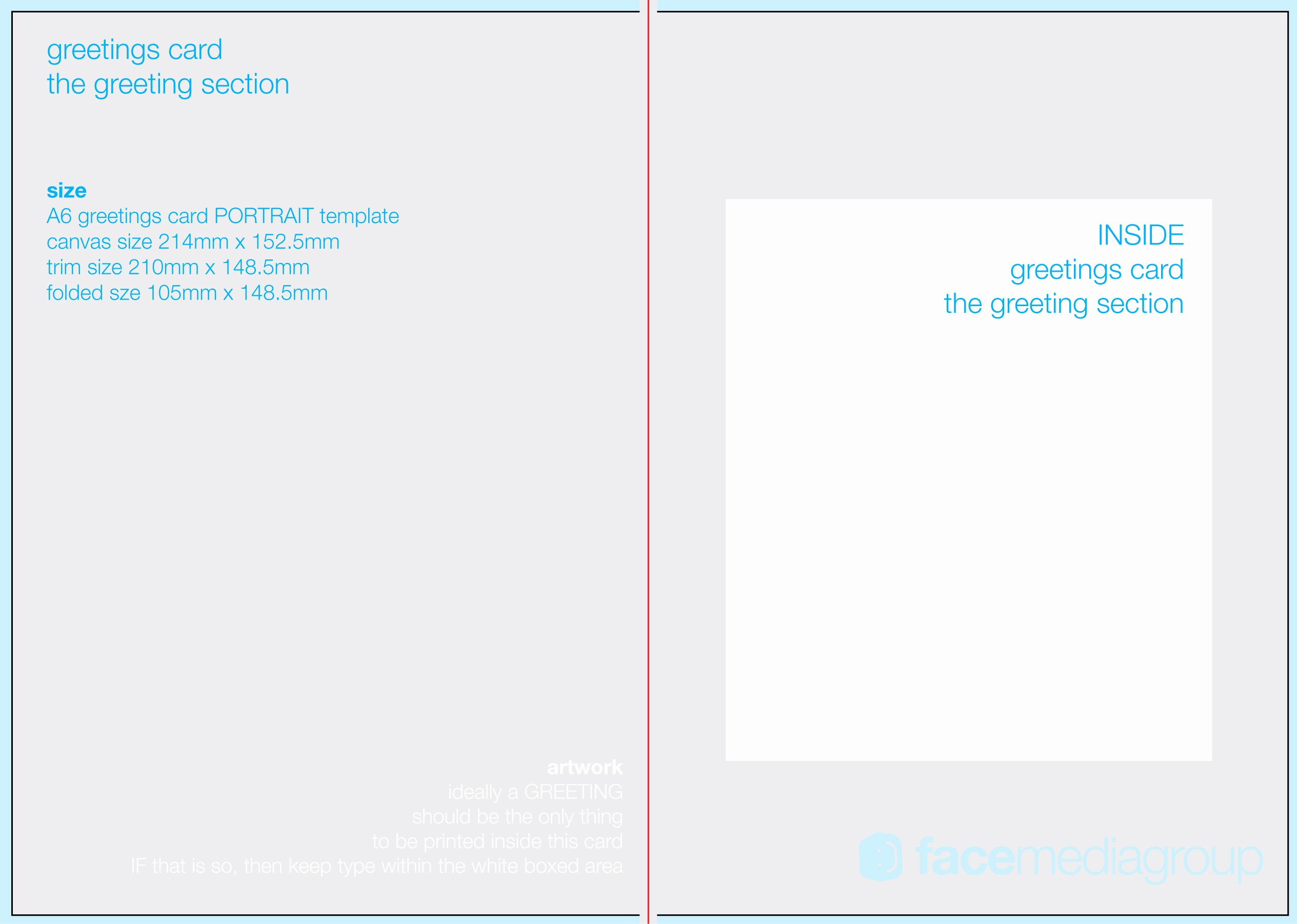Free Blank Greetings Card Artwork Templates for Download
