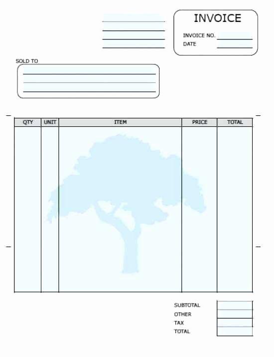 Free Blank Invoice Template Word Doc – Dyppedukopfo