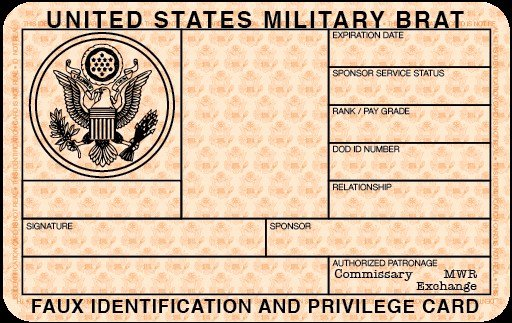 Free Blank Military Id Card Template