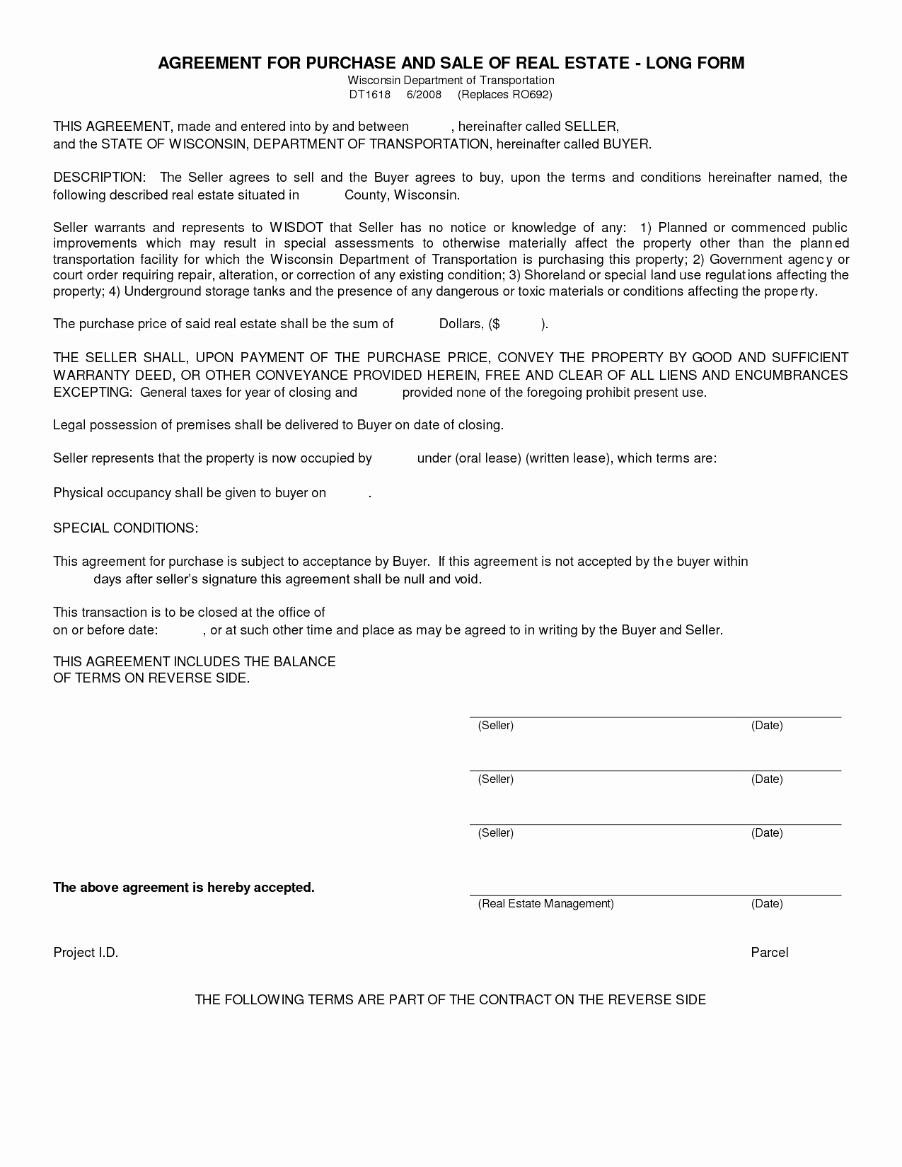 Free Blank Purchase Agreement form Images Agreement to