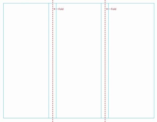 Free Blank Tri Fold Brochure Templates Clipart Best