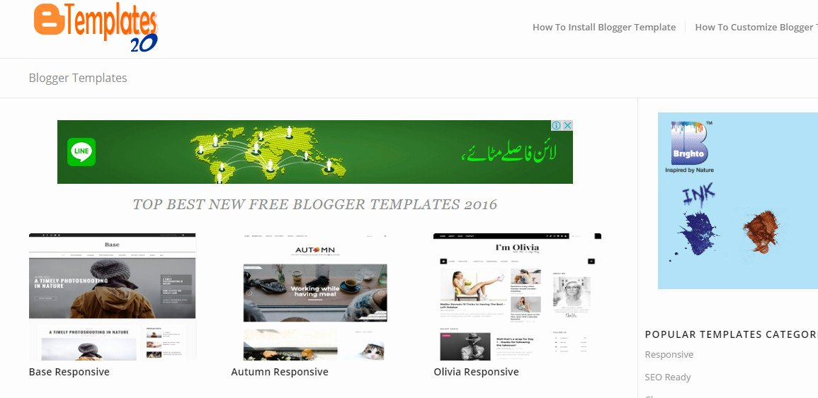 Free Blogger Templates Download top 20 Websites