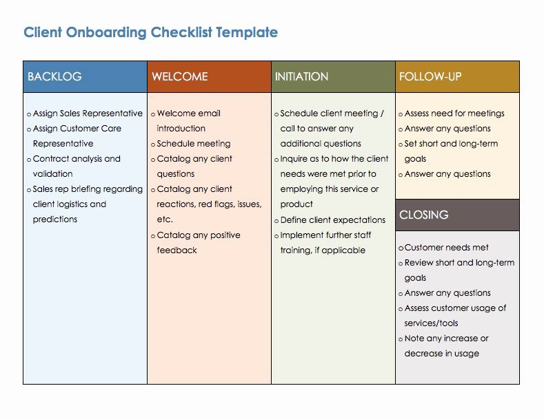 Free Boarding Checklists and Templates